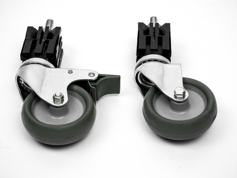 Räderset für Arbeitstische 100 mm